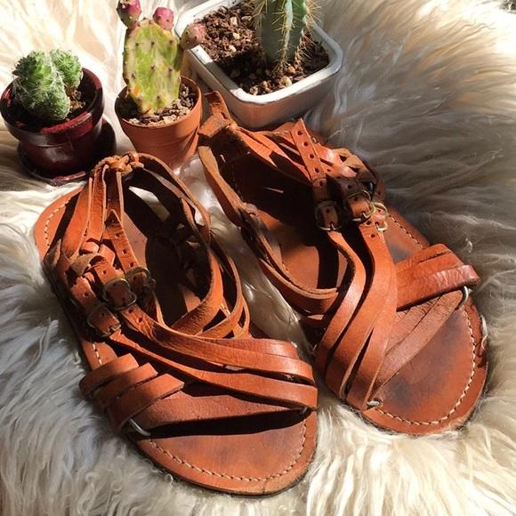 950af031c Handmade brown leather sandals! M 5ab53d1700450fdb6945389e